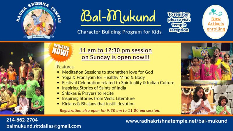 Bal Mukund - Character Building Program for Kids